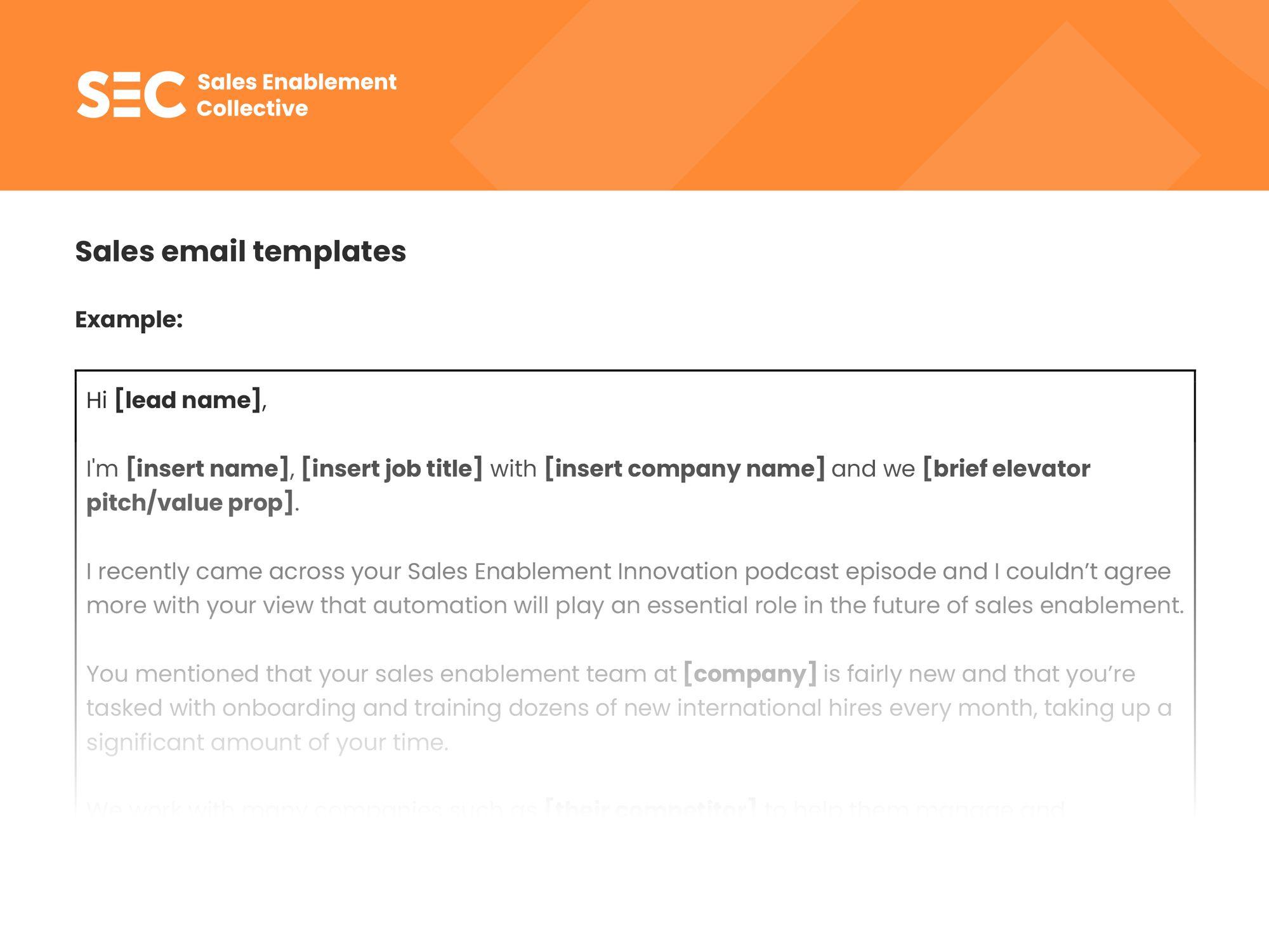SEC email template - membership